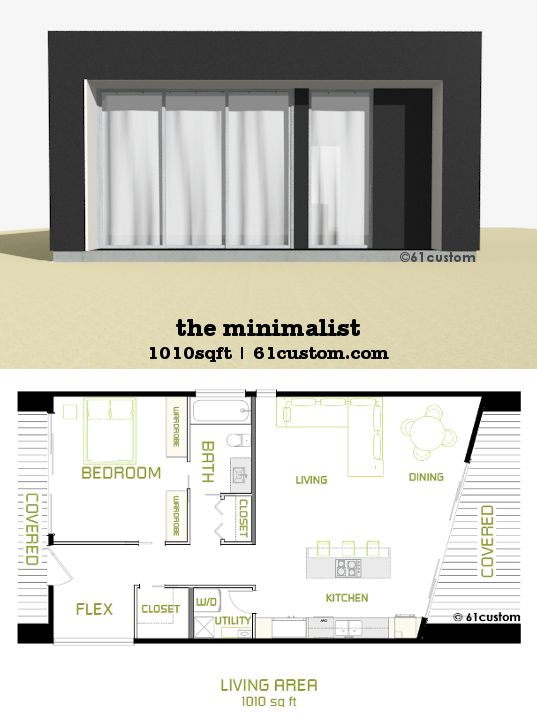 The minimalist small modern house plan small modern Small modern home floor plans