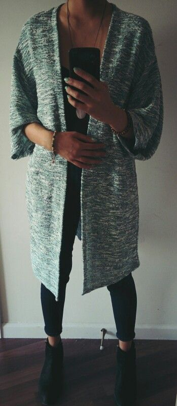 #ootd @hm long line cardigan | follow me on Twitter @ninamcauley