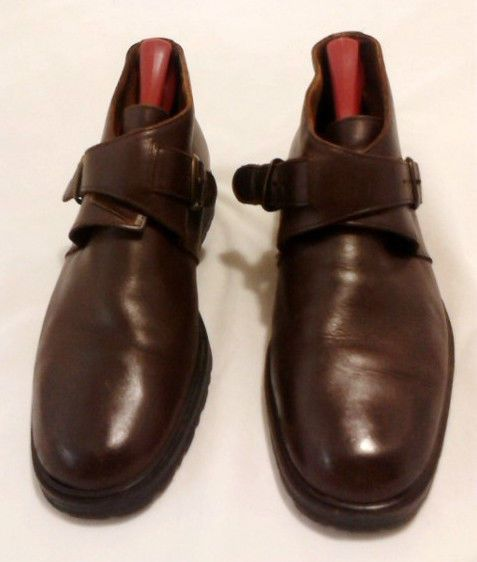 Buffalino Italy Leather Dress Shoes Men's 9M, Double Cross, Brown #Buffalino #Oxfords