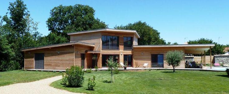 Maison en bois massif emplié de luxe Maisons En Bois Pinterest