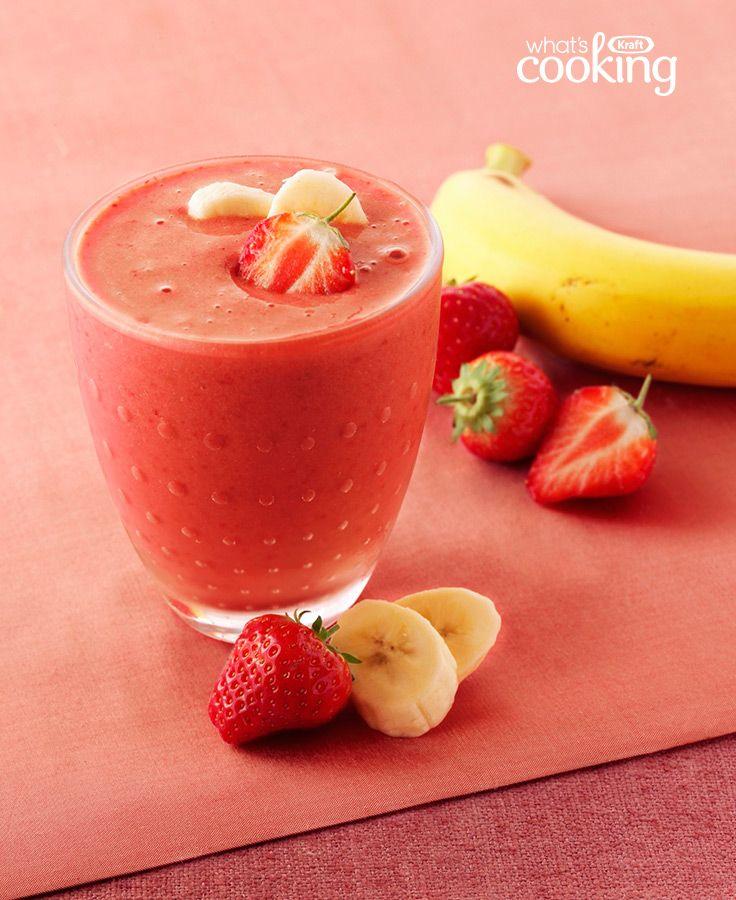 Coconut, Strawberry and Banana Yogurt Smoothie #recipe