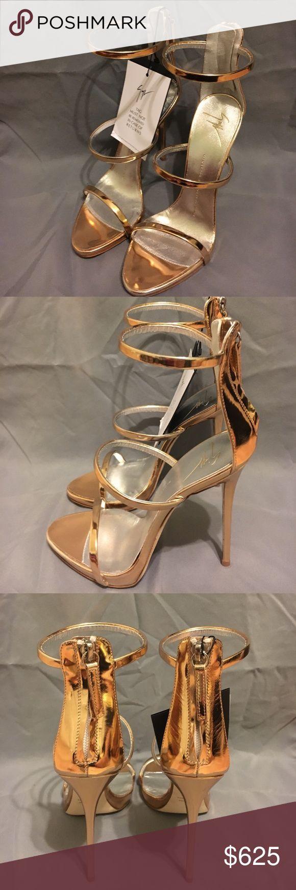 Giuseppe Zanotti stilettos Gold strappy high heel stilettos Giuseppe Zanotti Shoes Heels