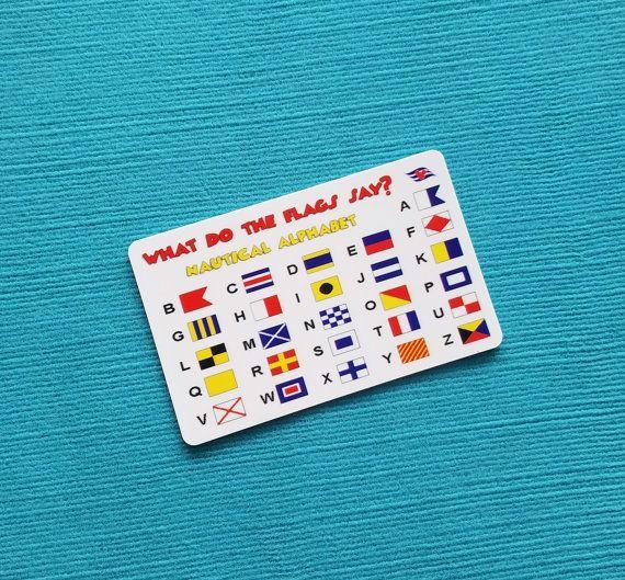 Disney Cruise Fish Extender Gift - FE Gift - Nautical Flag Alphabet Card - DCL FE Gift