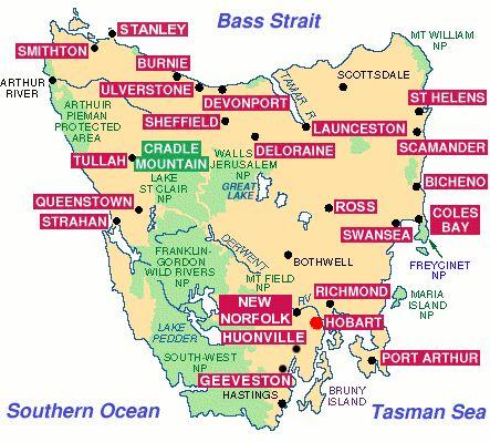 Map of Tasmania YA PEUT ME SERVIR ¿¿¿¿**+