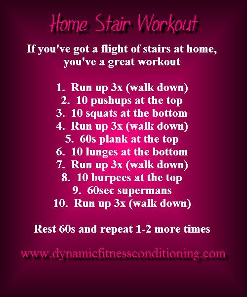 Home Stair Workout - Dynamic Fitness Conditioning - Redondo Beach Personal Training