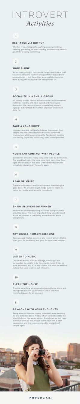 Introvert Activities