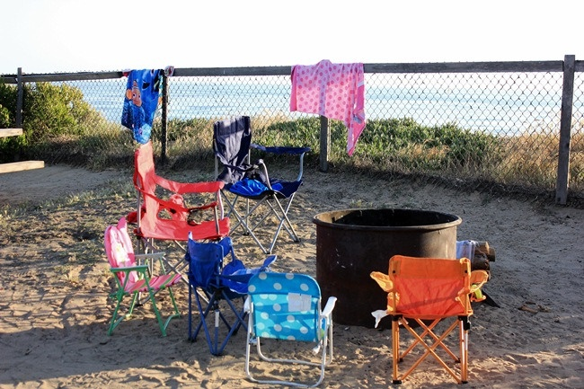 Camping at San Elijo State Beach in Encinitas, CA: Campfires Setup, Setup San, Elijo States, Beach Camping, States Beaches, Beaches Camps, U.S. States, San Elijo
