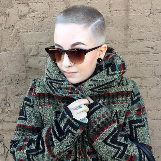 shaved hairstyles for women 27