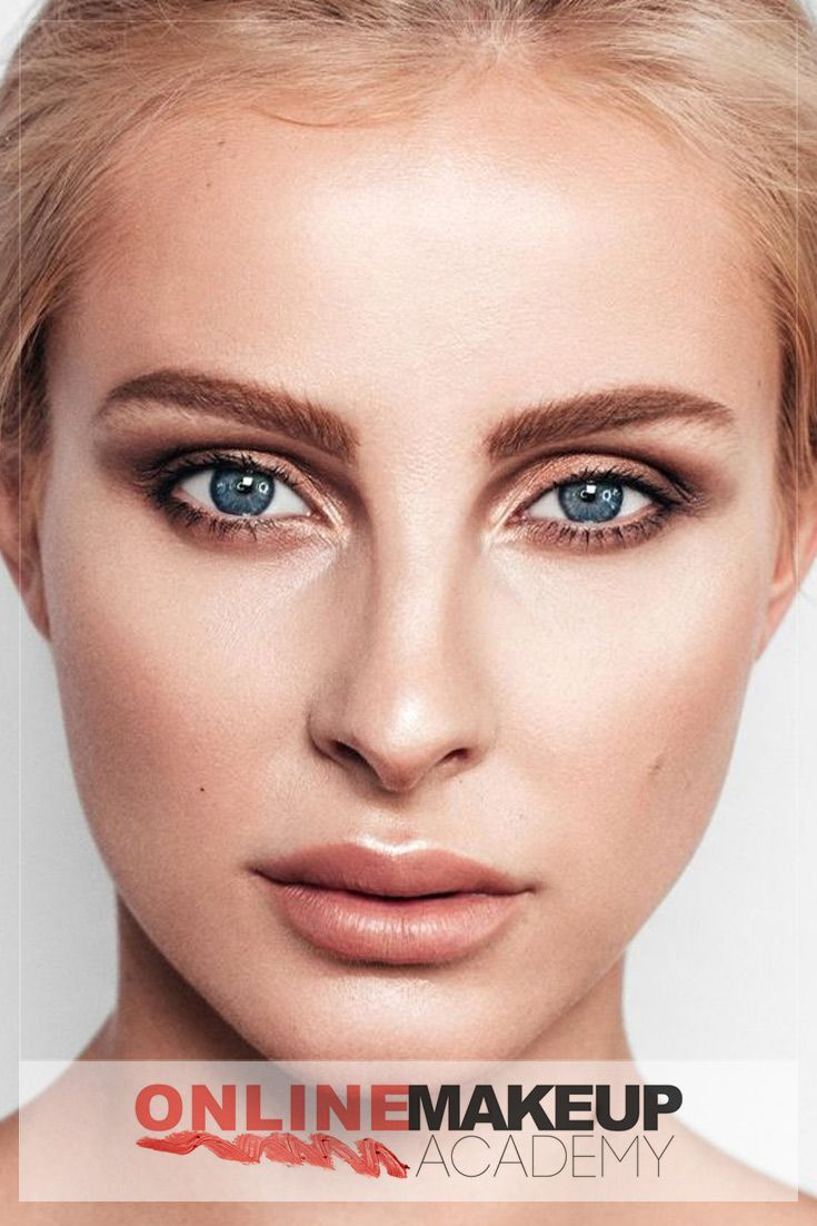 A natural makeup look created by Online Makeup Academy for Editorial Photoshoot with glowy skin, defined brows and soft smokey eyes will be a good option for a daytime makeup look. Lightly applied bronzer will be a good finishing touch to the whole beauty look.