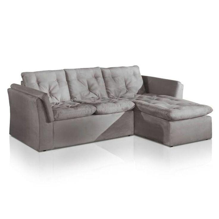 Sofa retratil cinza tres lugares ( Marabras)