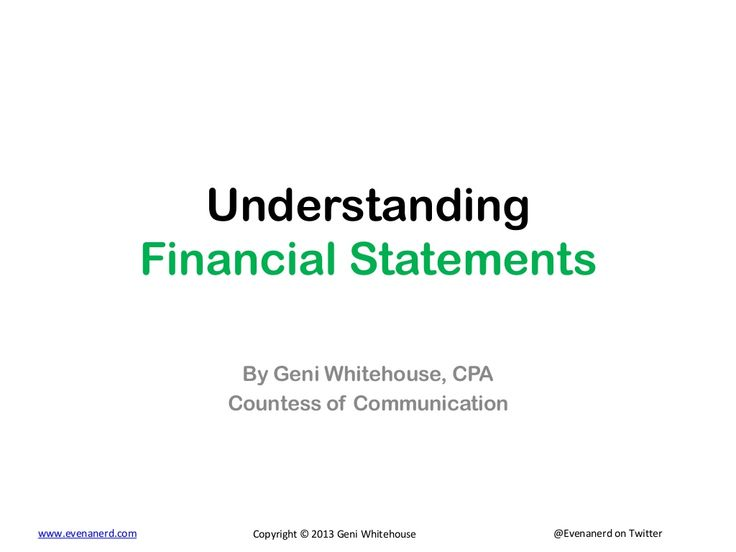 understanding-financial-statements by Geni Whitehouse via Slideshare