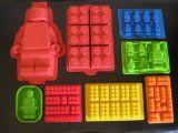 Make Lego Minifigure And Bricks Silicone Cake PAN Birthday Party Candy cakepins.com