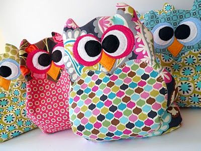 Owl pillows with template.