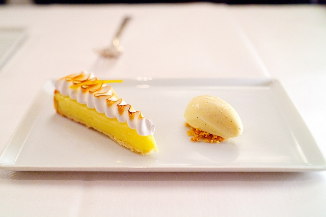 Lemon meringue pie & vanilla ice-cream from Café Boulud, New york
