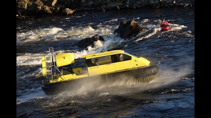 Rafting on the Hovercraft Christy 5143 FC / На  амфибии Christy 5143 FC ...