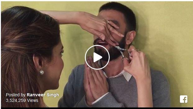 #DeepikaPadukone cuts off #RanveerSinghs #whiskers. Ranveer Singh posted a video of Deepika Padukone cutting off his #moustache on Instagram.