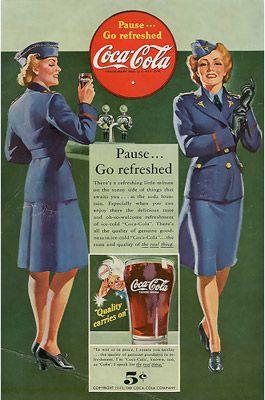 Vintage Coca Cola advertisement. [1942]