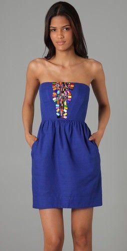 Azure.: Summer Dresses, Dreams Closet, Cobalt Blue, Spring Summ, Royals Blue, Graduation Dresses, Beads Dresses, Bold Colors, Hot Summer