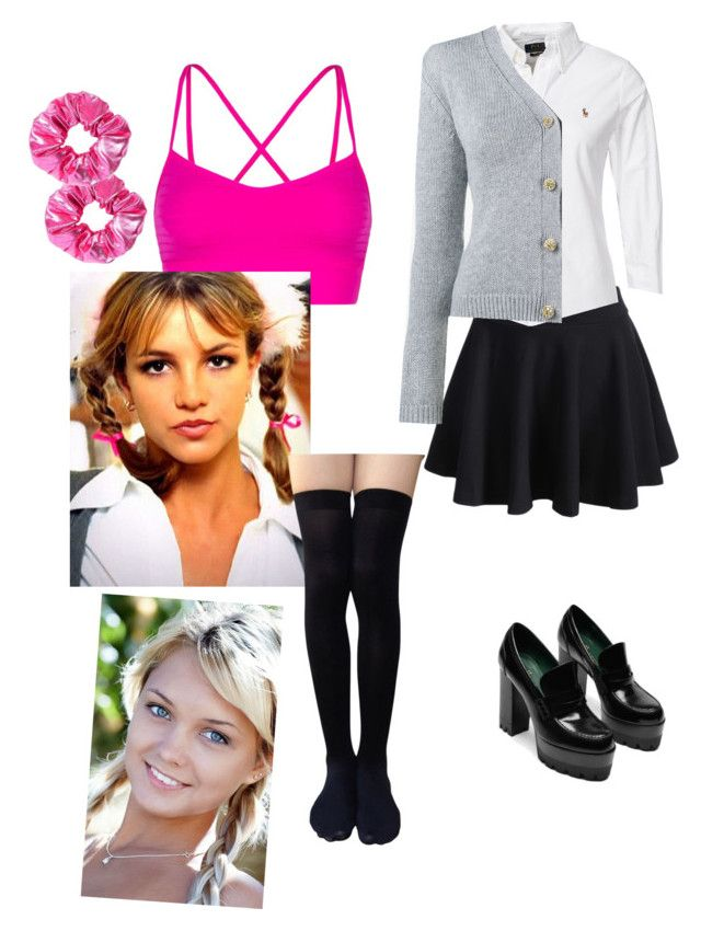 """""""Britney Spears Hit Me One More Time costume"""" by seetherfan17 on Polyvore featuring WithChic, Polo Ralph Lauren, Miu Miu, Lorna Jane and Britney Spears"""