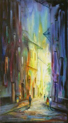 Paisaje al oleo pintor colombiano