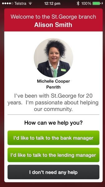 St. George Bank Greets Customers Through Smartphones and Tablets #beacon trendhunter.com