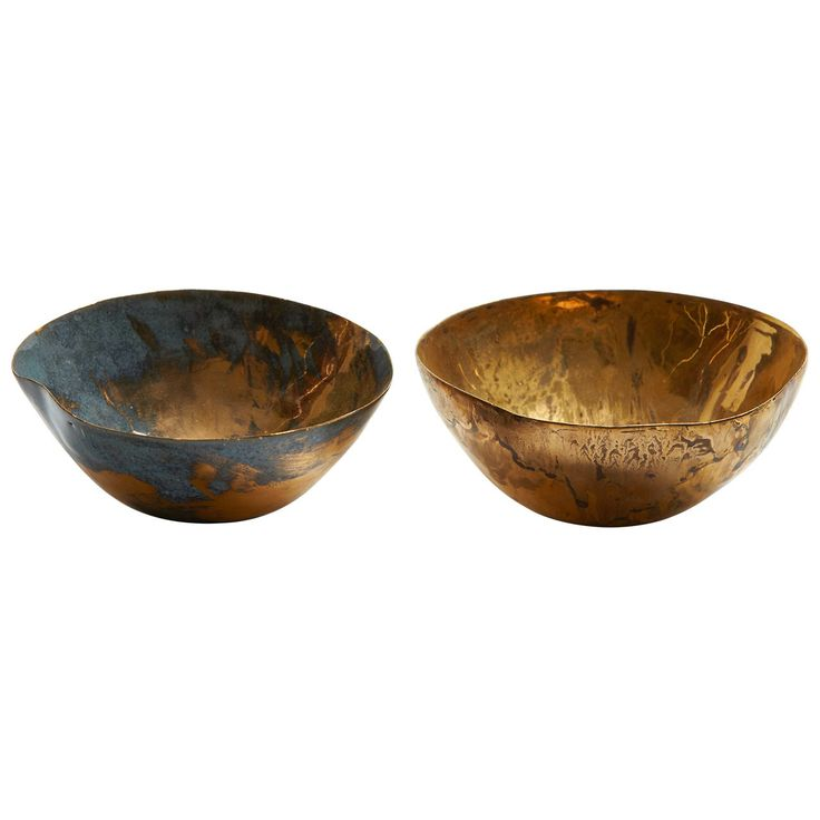 Golden Bowls by Fausto Melotti | From a unique collection of antique and modern bowls at http://www.1stdibs.com/furniture/dining-entertaining/bowls/