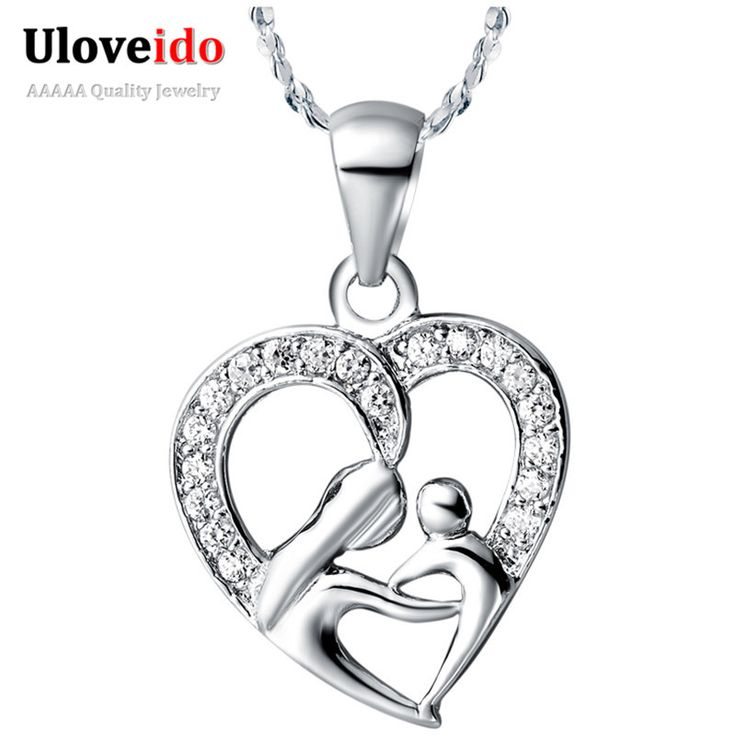 Uloveido 10% Off Mothers Day Gifts for Mom 925 Sterling Silver Necklace Fashion Necklaces for Women Girls Free Shipping N595