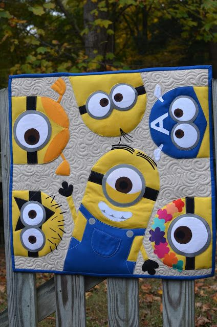 I finally got around to uploading some pictures of a mini quilt that I recently made for an instagram mini swap, theme was MINIONS!!  How fu...