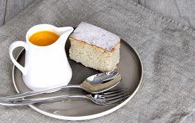szczypta smaQ: Ciasto kokosowe z białej fasoli z sosem mango, bez mąki, bez…