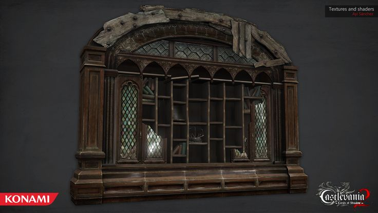 ArtStation - Chupacabras Bookshelf for Castlevania, Ayi Sanchez