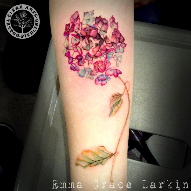 Image result for watercolor hydrangea tattoos