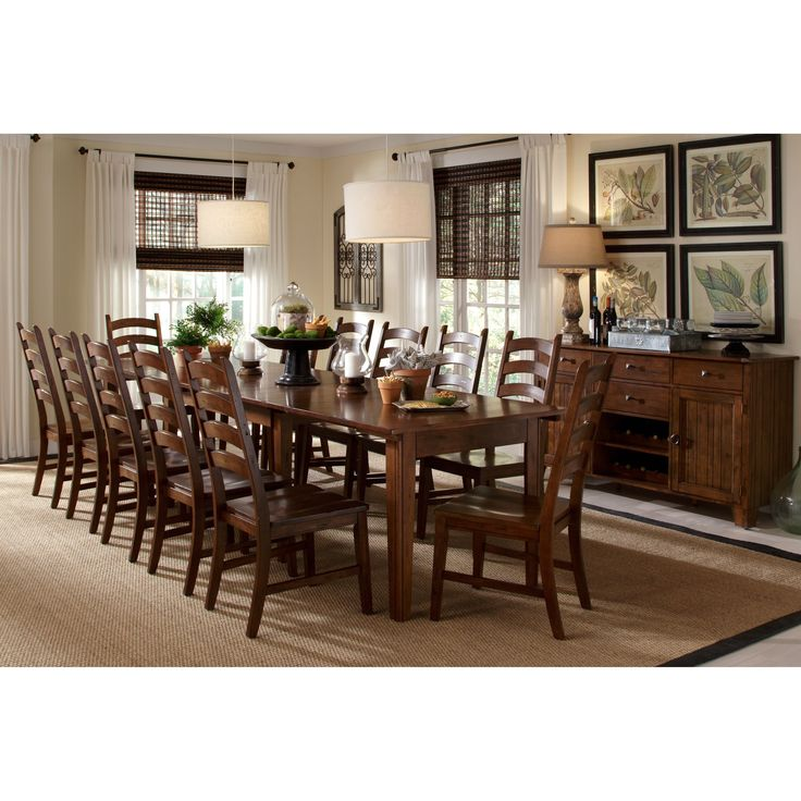 The Auden Dining Collection Is All About Versatility Constructed Of Solid Rubber Wood And Finished In A Rustic Amber Finish Table Easily Converts From