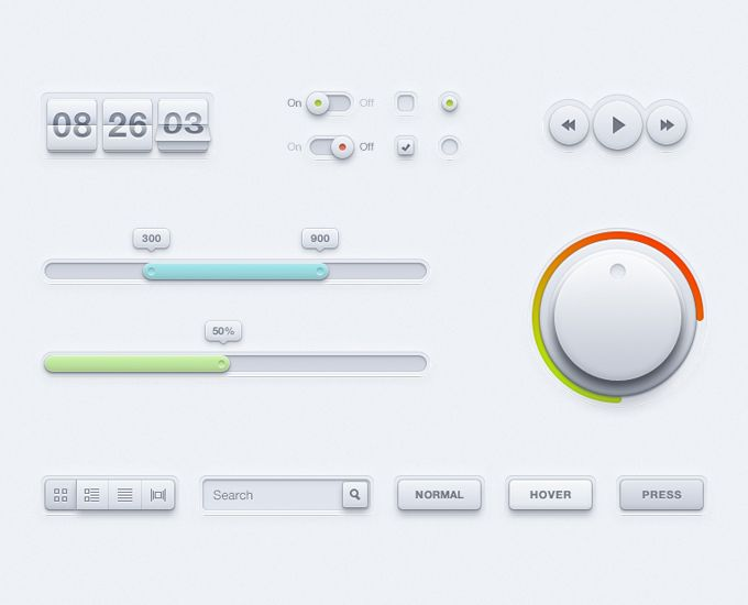 User Interface Kit - 365psd  #free #freebie #ui #userinterface #design #webdesign #web #buttons #icons #style