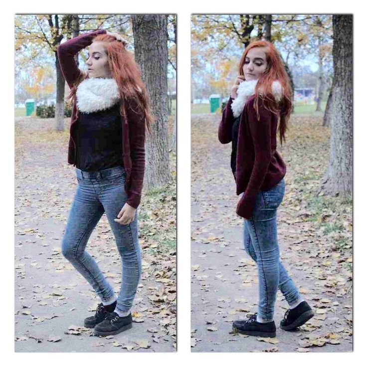 #autumn#season#cold#outside#tumblr#picture#ginger#hair#hairstyle#leaves