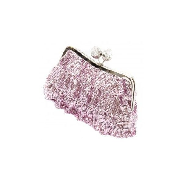 Koko Designer Pink Clutch Bag   Pink Frill Clutch Bag   Pink Chainmail... (€44) ❤ liked on Polyvore featuring bags, handbags, clutches, handbag purse, pink purse, special occasion clutches, purple handbags and evening bags