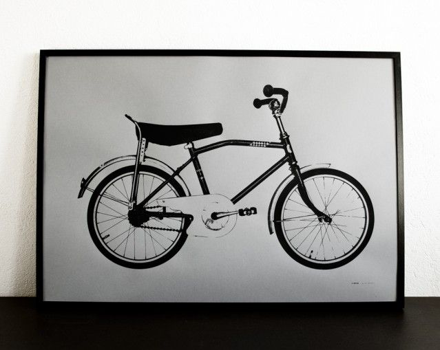Limpan by Jollygoodfellow #nordicdesigncollective #jollygoodfellow #screenprint #bicycle #grey