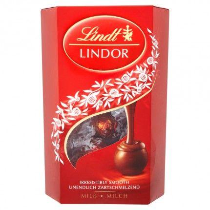 Lindt Lindor Mléčná čokoláda s mléčno-čokoládovou náplní 200g