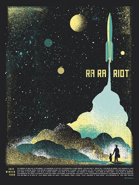 this poster is awesome. I also just noticed on itunes... ra ra riot just came out with another album? That's news