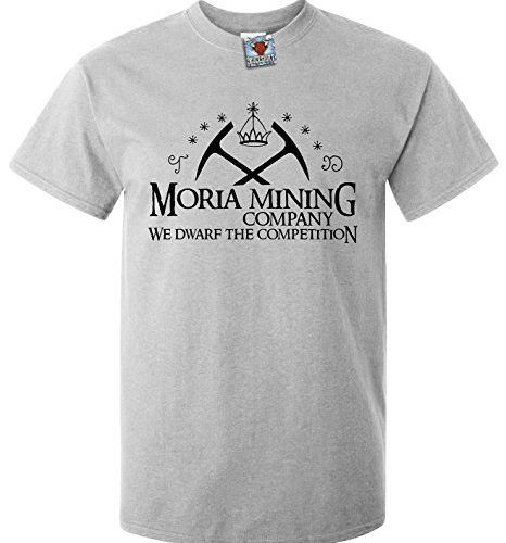 Moria Mining Company – We DWARF the Competition! Bring a nice chuckle to those LOTR fans around you by sporting this cool Pop Culture Reference T Shirt.