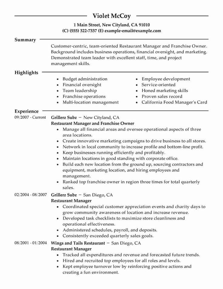 Small Business Owner Resume Sample Elegant Resume format