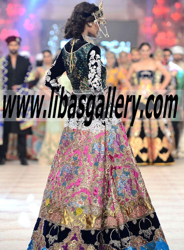 """Ali Xeeshan presented """"Baghawat"""" collection at PFDC L'Oréal Paris Bridal Week 2014-2015 Bridal Lehenga, Sharara, Gharara, Men's Sherwani, pakistani designer dresses, pakistani wedding dresses,  PFDC L'Oréal Paris Bridal Week indian wedding lehenga, indian bridal lehenga, pakistani bridal dresses, pakistani bridal lehenga, anarkali suits, pishwas, pakistani men's sherwani,wedding jewellery, pakistani boutiques buy Pakistani dresses online in UK USA Canada Australia, www.libasgallery.com"""