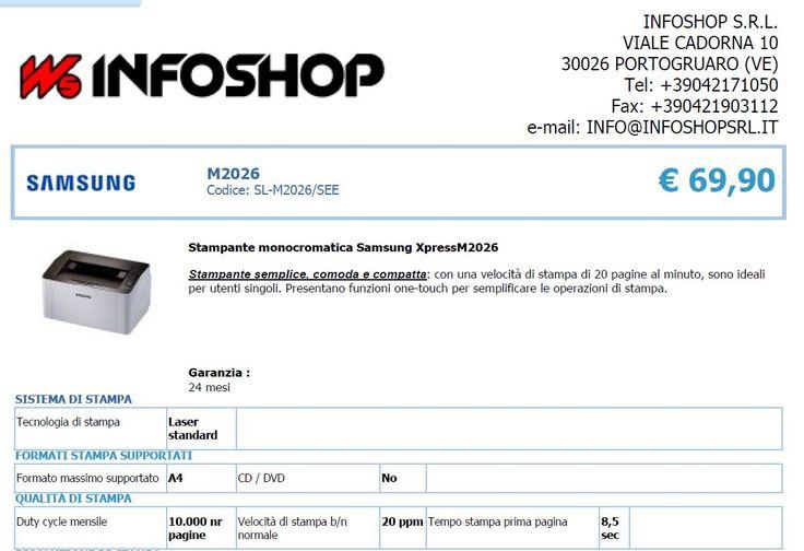 In OMAGGIO risma 500 fogli e cavo USB 2Mt, abbinati all'acquisto della stampante nel mese di AGOSTO!