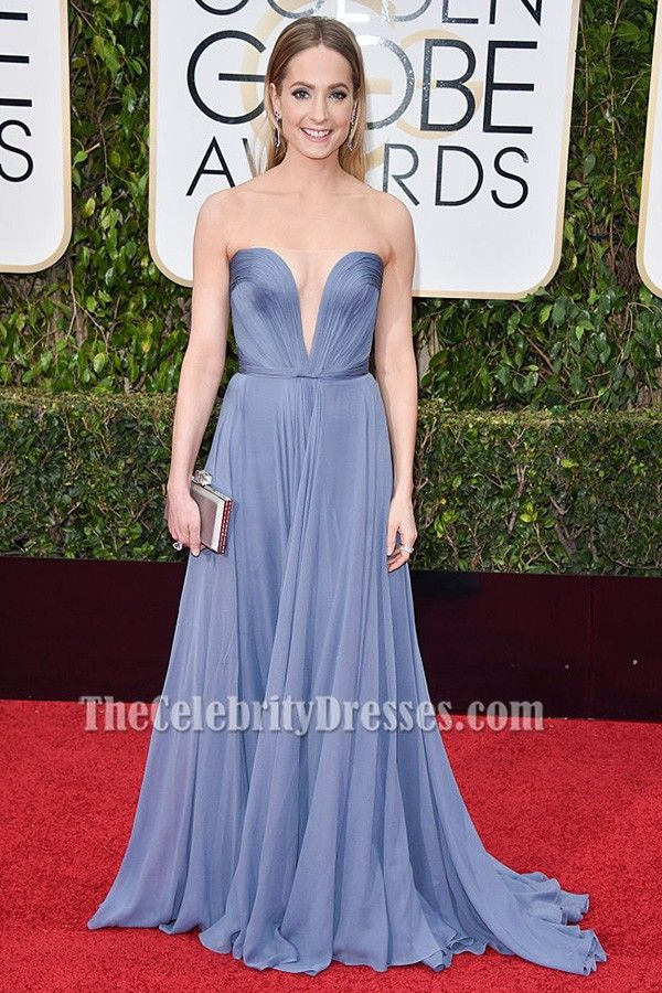 Joanne Froggatt Blue Evening Dress Golden globe awards 2016 Red Carpet - TheCelebrityDresses