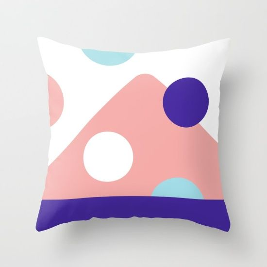 Abstract Hill Throw Pillow