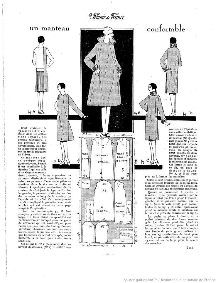 Manteau simple (La Femme de France 05/12/1926)