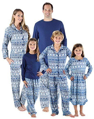 Chic SleepytimePjs Holiday Family Matching Navy Nordic PJs Sets for The  Family Christmas Clothing.   508c5b0e3