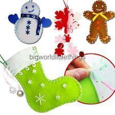 Adornos de árbol de Navidad Decoración de fieltro colgantes Juguetes Regalos Manualidades Hágalo usted mismo