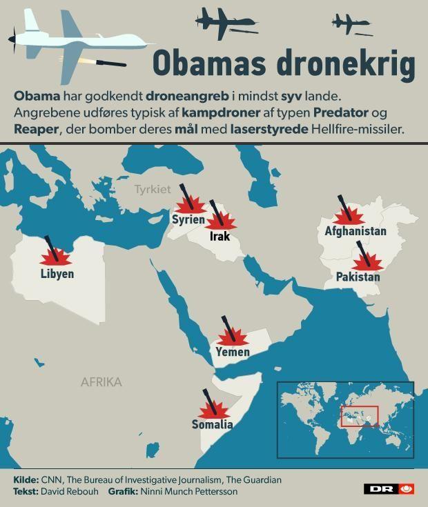 Otte år med Obama: Færre invasioner - flere dronedrab | Nyheder | DR