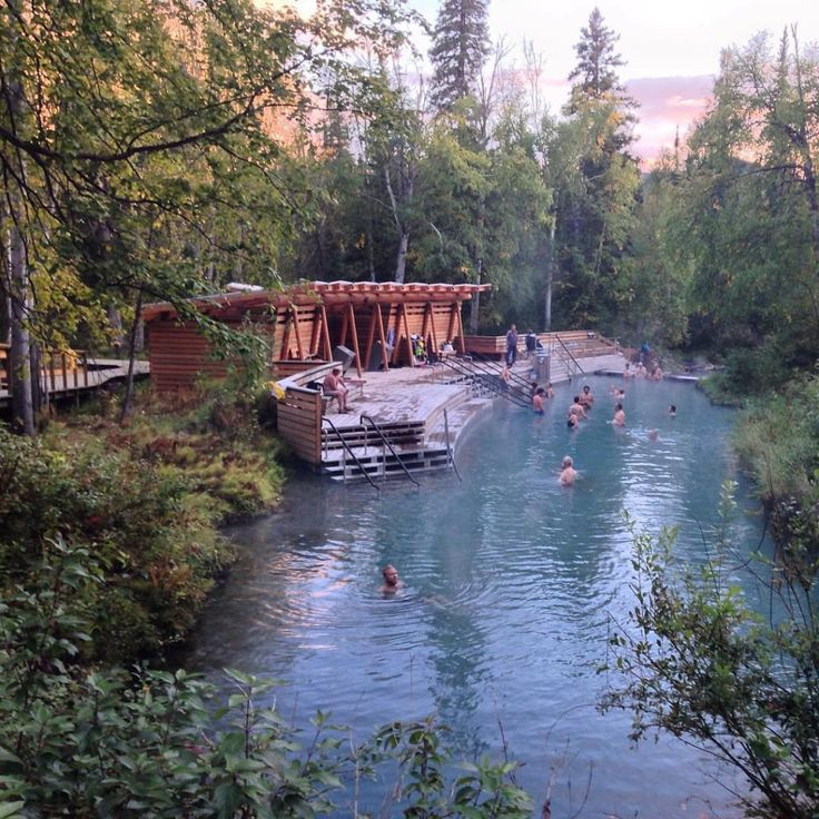 Unwinding at Liard River Hot Springs along BC's Alaska Highway. Photo: @happiestoutdoors