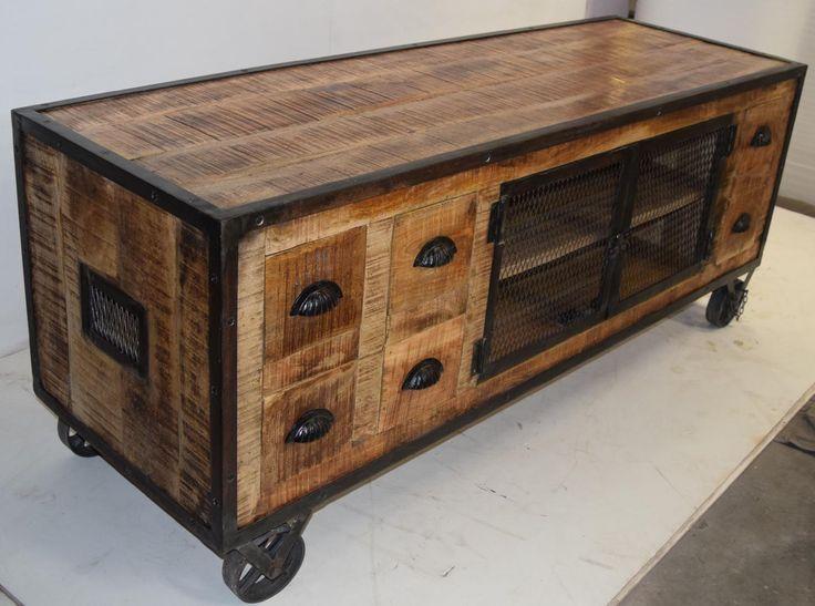 chic industrial furniture. mango wood shabby chic furniture industrial